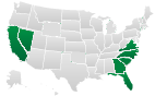 Electronic Lien and Title States - Florida, California and Georgia.